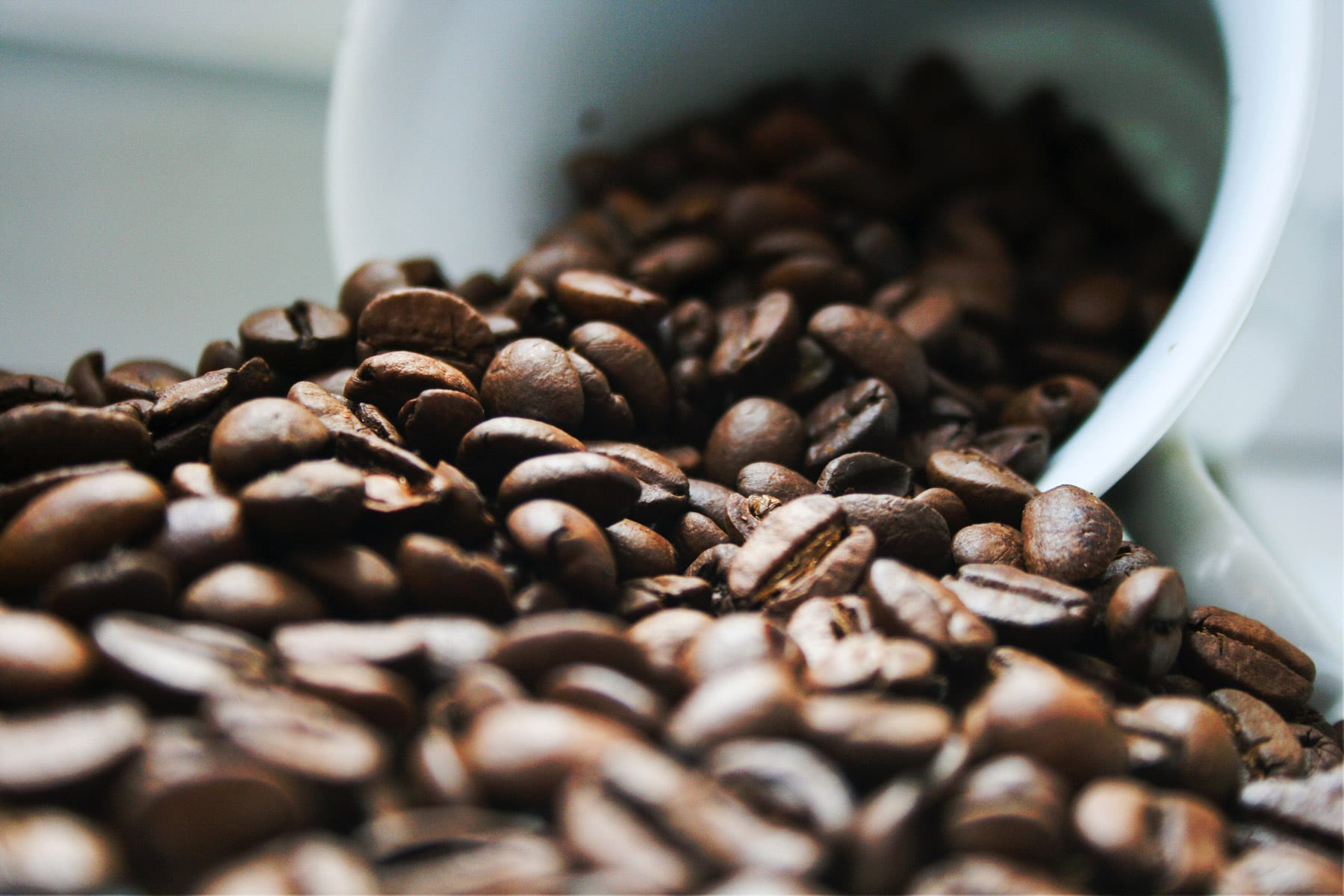 Coffeebeans are made into delicious coffee in coffee machines