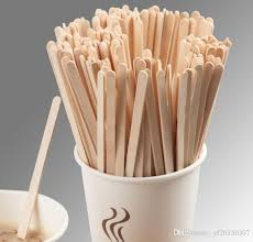 wooden stirrers for coffee